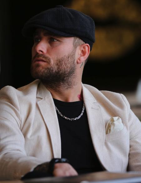 İngiliz stil erkek kasket şapkası